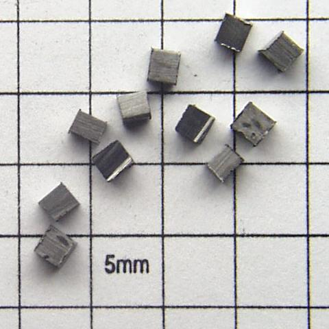 2.3mm cubes Rockwell