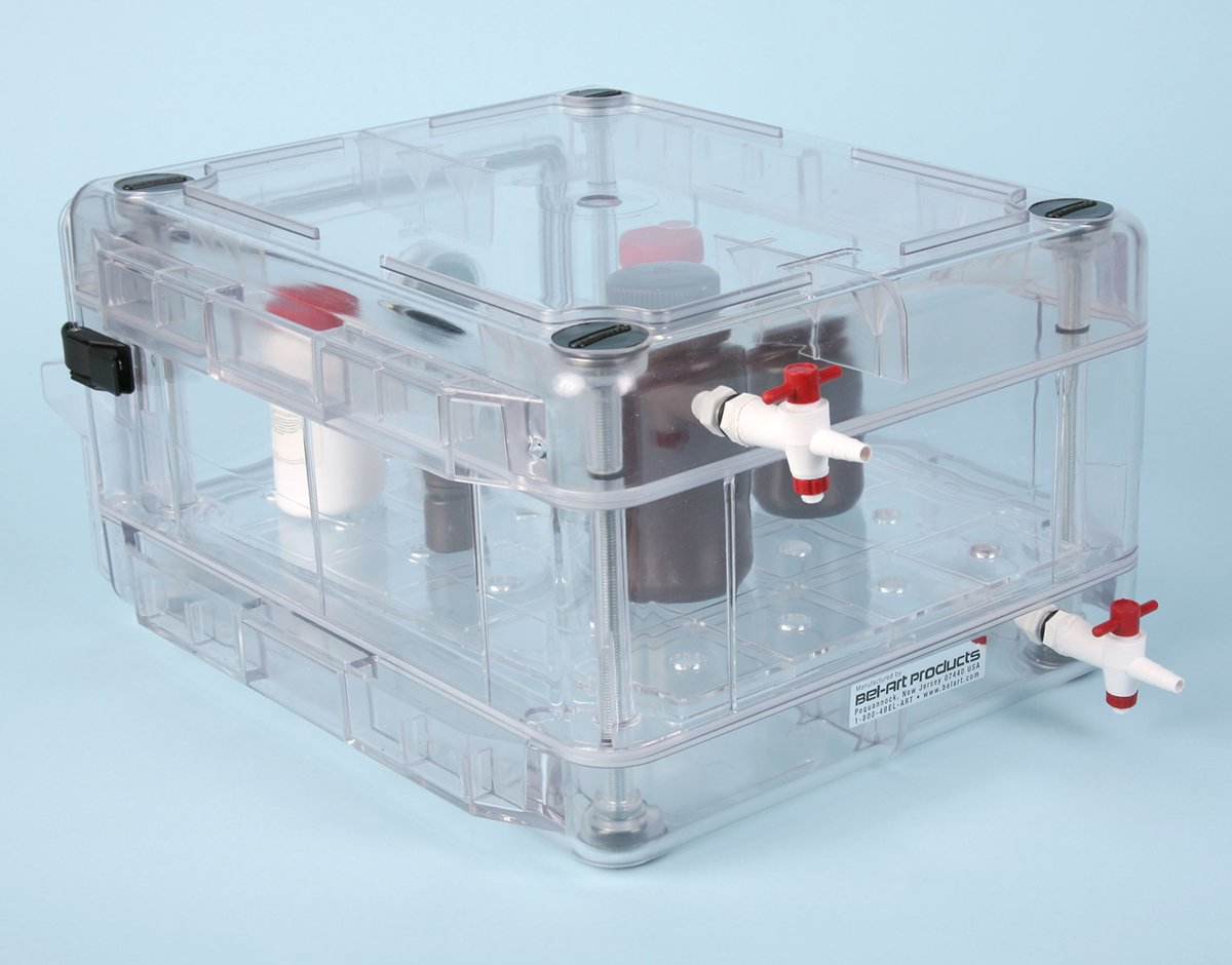 Lovely Secador 1.0 Desiccator Cabinet All Clear Horizontal Manual Operation  Stackable With Gas Ports F4207