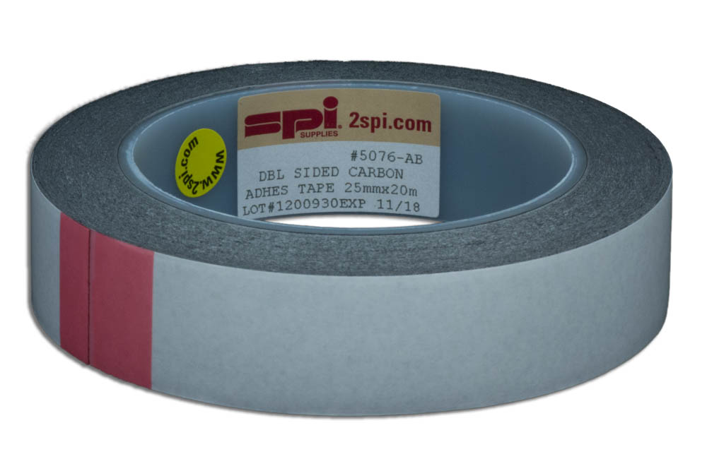 Spi Supplies Double Sided Adhesive Carbon Tape Plastic