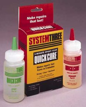 System Three Quickcure 5-Minute Epoxy Resin Bulk Bottle, 4 oz Resin, 4 oz  Hardener(DG for Int'l)