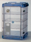 Secador 4.0 Desiccator Cabinet Vertical Clear with Blue End Caps Manual F4207-41006 - - alt view 1