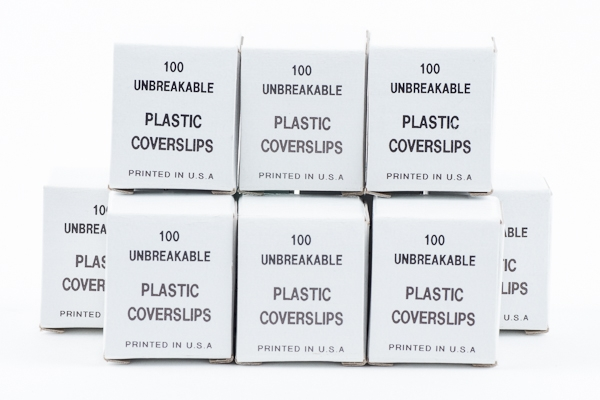 SPI Supplies Brand Plastic Cover Slips 22x22 mm x 7 mils (0.157mm) Thick Pack of 1000