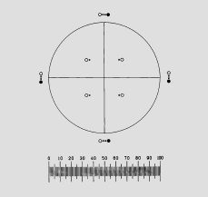 Graticules Brand Eye Piece Reticle Pharmaceutical PSA Pattern - G57 Glass Sandwich