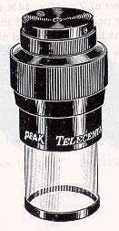 PEAK Telecentric Loupe/Magnifier with Glass Scale