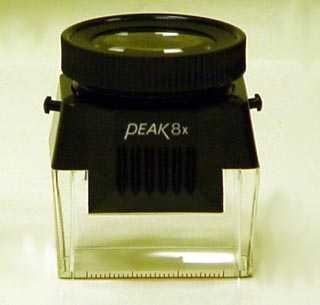PEAK Brand Loupe/Magnifier for 35 mm Film, 8X