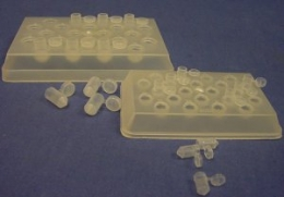 BEEM Capsule Holder, UV Transparent, with 22 Individually Numbered Cavities, For Size 00 BEEM Capsul