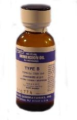Type B Cargille Immersion Oil, High Viscosity (1,250 centistokes) for Microscopy