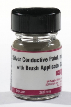 NO-VOC Silver Paint with Brush Applicator Cap, 0.5 troy oz.(15.5g) (CofC not available)
