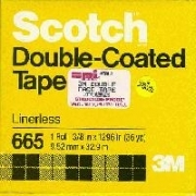 3M Double Coated Adhesive Tape, Code 665