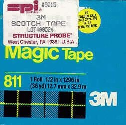 3M Magic Tape, Code 811, 0.5in. (12.5 mm) x 36 yds. (32.9 m) long