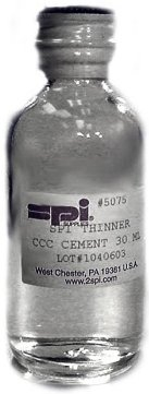 SPI Supplies Brand Thinner for Leit-C™ CCC Conductive Carbon Cement 30 ml