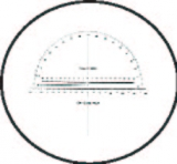 Graticules Reticle Model M6T8 Scale & Protractor for MAG6 Measuring Magnifier