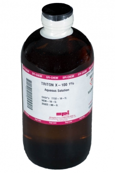 Triton-X100 Nonionic Surfactant Octyl Phenol Ethoxylate Ether 1% Aqueous CAS#'s 7732-18-5;9036-19-5;