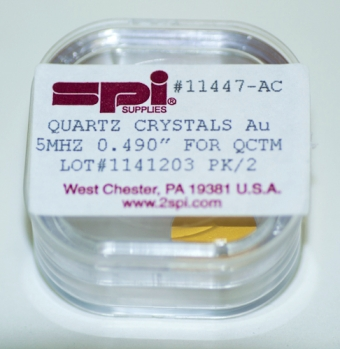 SPI Supplies Brand Quartz Crystals for Quartz Crystal Thickness Monitors Pack(2) Crystals