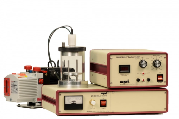 SPI Module Sputter Coater with Etch Mode and Pump 110v 50/60 Hz CE Certified