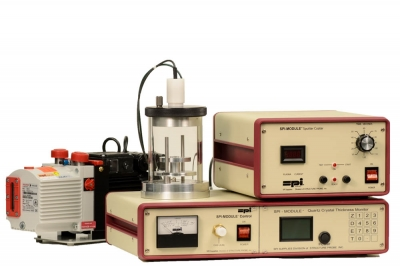 SPI Module Sputter Coater with Quartz Crystal Thickness Monitor and Pump 220v 50/60 Hz CE Certified