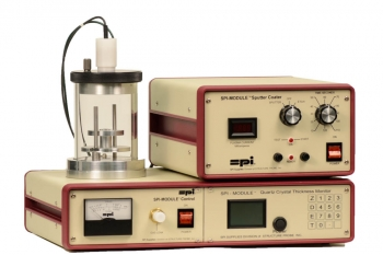 SPI-Module Sputter Coater and Vacuum Base with Etch Mode and Quartz Crystal Thickness Monitor, 110v