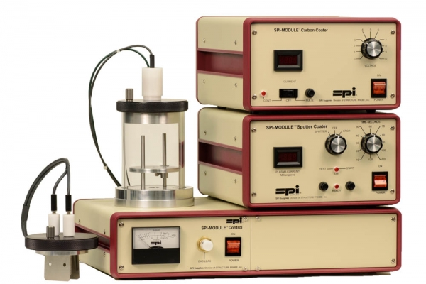 SPI-Module Sputter Coater with Carbon Module and Etch Mode w/o Pump 220v 50/60 Hz CE Certified