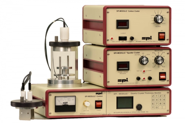 SPI-Module Sputter Coater with Carbon Module and Etch and QCTM 110v 50/60 Hz CE Certified