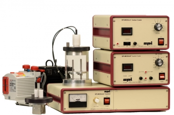 SPI-Module Sputter Coater with Carbon Module and Pump 110v 50/60 Hz CE Certified
