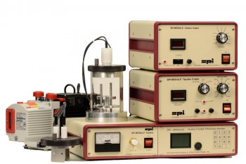 SPI-Module Sputter Coater with Carbon Module and Etch and QCTM and Pump 110v 50/60 Hz CE Certified