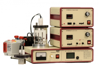 SPI-Module Sputter Coater with Carbon Module and QCTM and Pump 110v 50/60 Hz CE Certified