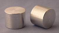 SPI Supplies Aluminum Round Mounts, 1x25/32in, Lathe Finish