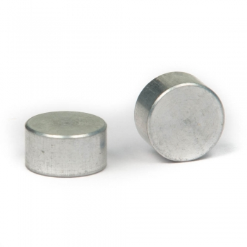 SPI Supplies Cylindrical SEM Mounts, 10x5 mm, Aluminum, Luster Finish