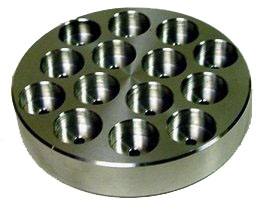 "SEM Mount Work Stations, 10 mm Round Mounts and 1/8"" (3 mm) pins on pin type-mounts (Holds 14)"