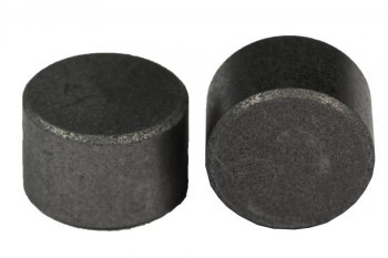 SPI Supplies Cylindrical  SEM Mounts, 15x10 mm, Pure Carbon, Standard Finish