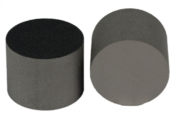 SPI Supplies Cylindrical SEM Mounts, 25.4x20 mm, Pure Carbon, Ultra-Smooth Finish