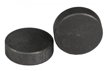 SPI Supplies Cylindrical SEM Mounts, 25.4x8 mm, Pure Carbon, Standard Finish