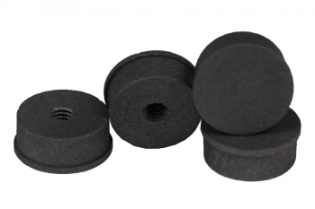 SPI Supplies Threaded Female SEM Mounts, 15x6 mm, Pure Carbon, Standard Finish