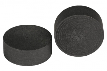 SPI Supplies Cylindrical SEM Mounts, 26x10 mm, Pure Carbon, Standard Finish