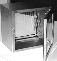 "Stainless Steel Dessicator Cabinet, 22""x21.6""x16"" (55.9x55x40.6 cm),, crating charge required"