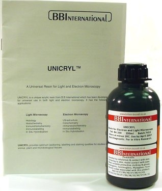 UNICRYL Resin for Light and Electron Microscopy 10 x 25 ml bottles