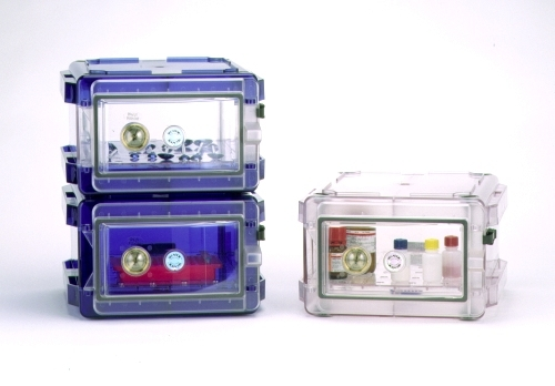Secador 1.0 Desiccator Cabinet All Blue Horizontal Manual Operation Stackable F4207-10007