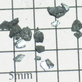 SPI Supplies Individual Loose Microanalysis Standard Item, Minerals Group, Stibnite (alternate to AS