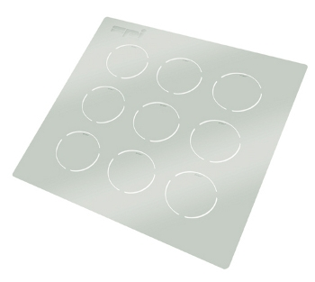Ceramic Solid Disc Grids, 3mm pk of 9 on a wafer