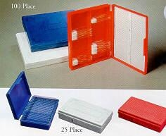 SPI Supplies Brand 25 Slide Box Plastic Bottom Blue
