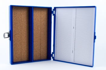 SPI Supplies Brand 100 Slide Box Cork Lined Bottom