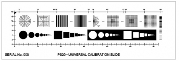 "Universal Calibration Slide by Pyser with 14 Image Sets on 1x3"" Glass Microscope [PS20]"