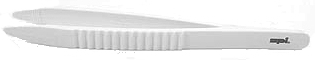 SPI-Swiss Polypropylene Plastic Tweezers,White, Anti-Magnetic, Pack of 1