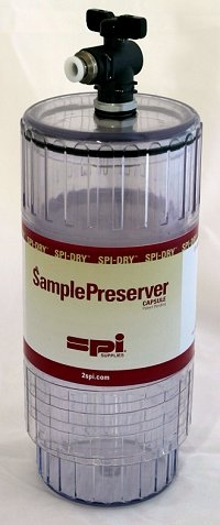 SPI-Dry Sample Preserver Capsule, Small 2.75 in (69.9mm) Diameter x 4.75 in (120.65mm) High