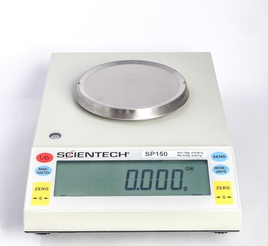 Scientech Electronic Top Loading Semi-Analytical Balance Model SP150 100-240v Use, CE Certified