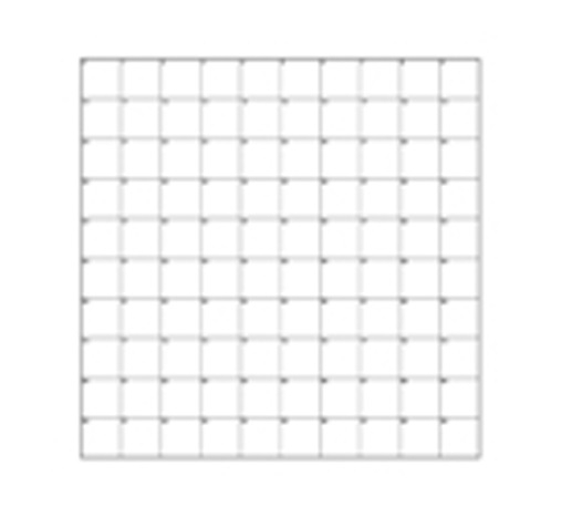 Correlative Microscopy Coverslips, 10x10 Grid of 1mm Squares, Pack 25