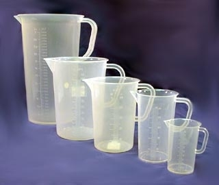 SPI Supplies Brand Graduated Pitchers Polypropylene Plastic