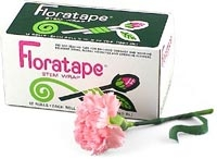 Floratape by Parafilm White 1/2 in x 90 ft (12.5mm x 27.5 m) Box of 12 rolls