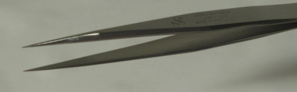 SPI-Swiss Style #3c Antimagnetic Stainless Steel Tweezer, High Precision, 120 mm