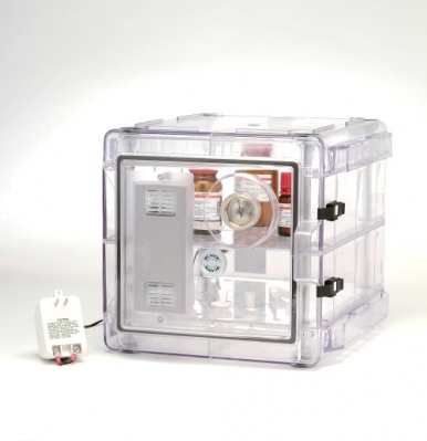 Secador 2.0 Desiccator Cabinet All Clear Horizontal Manual Operation Stackable with Gas Ports F42072